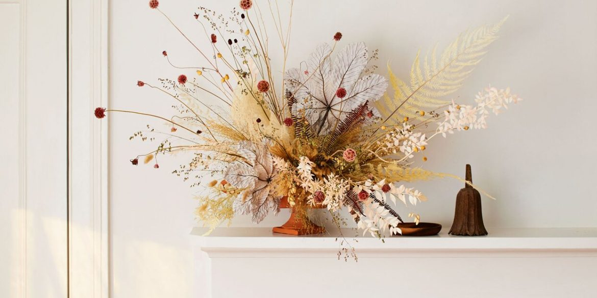 Mila Rose Dried Flower Arrangements, Get Natura Stylistic Theme For Your Home